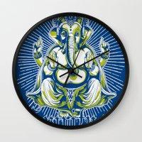 spiritual Wall Clocks featuring Spiritual healer  by Tshirt-Factory