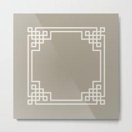 Gray Grey Alabaster Lattice Metal Print