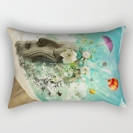 Meditation Yoga ART Surreal Modern Painting  Rectangular Pillow
