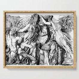 Gigantomachy. Athena, Alkyoneus, Gaia Serving Tray