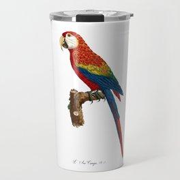 Parrot, Multi Colored Parrot, L 'Ara Canga, Antique Bird Print by Jacques Barraband Travel Mug