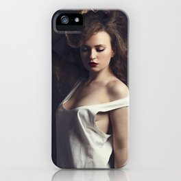 white tank top 05 iPhone Case