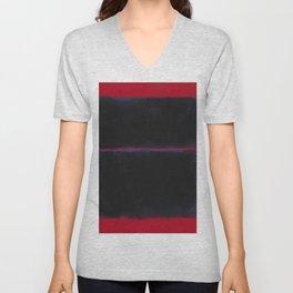 Rothko Inspired #6 Unisex V-Neck