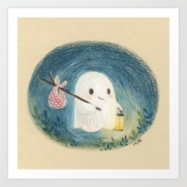 Little ghost in the night Art Print
