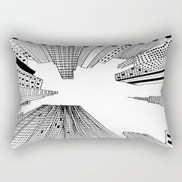 City Topography Rectangular Pillow