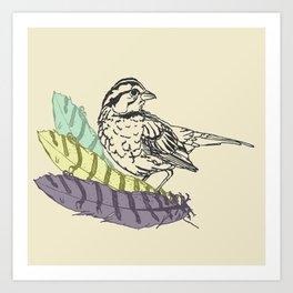 Sparrowland Art Print