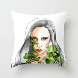 Dona Bosc Throw Pillow