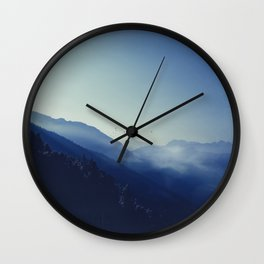 daybreak blues Wall Clock
