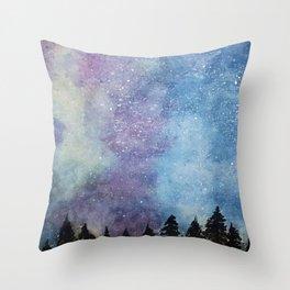 Nebula Night Throw Pillow