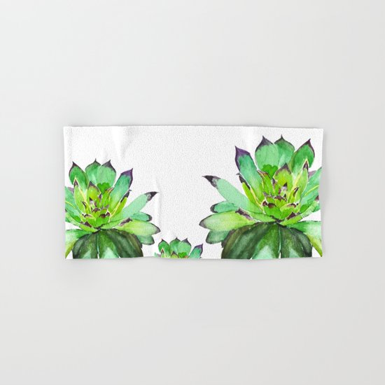 green succulent 2 Hand & Bath Towel