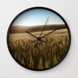 Palouse Sunset Photography Print Wall Clock
