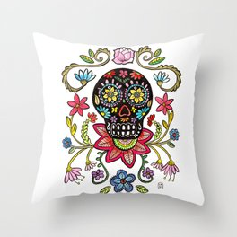 Calaca Dieguito Throw Pillow