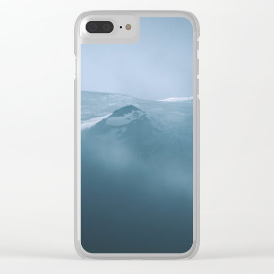 Cloudy Mount Rainier Clear iPhone Case