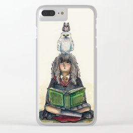 Hermione Granger - Owl Clear iPhone Case