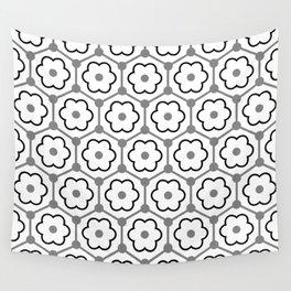 Floral Graphene - White - Gray - Black Wall Tapestry