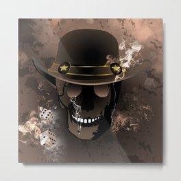 The skull fighter Metal Print