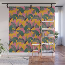 Retro Luxe Lilies Pattern Wall Mural