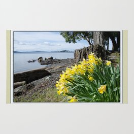 DAFFODILS OF SPRING IN THE SAN JUAN ISLANDS Rug