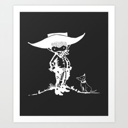 A Brave Little Cowboy Art Print