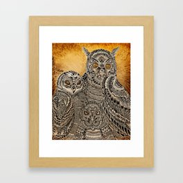 Owl Family - Maahy Framed Art Print