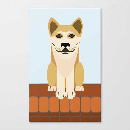 Shiba dog vector Canvas Print