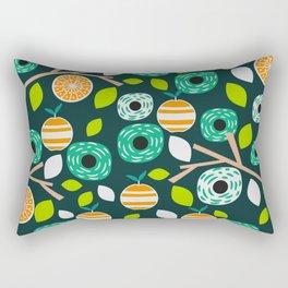 Oranges and flowers Rectangular Pillow