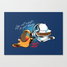 Up All Night To Get Ducky Canvas Print