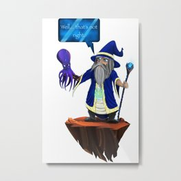 Wizard's Wrong Spell! Metal Print