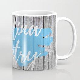 North Carolina State Map Country Rustic Print Barn Wall Coffee Mug