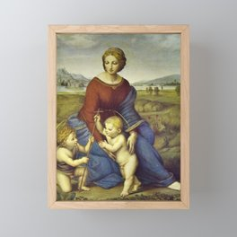 Madonna of the Meadows by Raphael Framed Mini Art Print