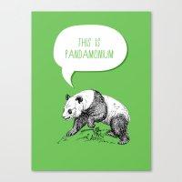 pun Canvas Prints featuring Panda Pun by Zeke Tucker