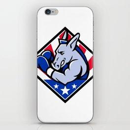 American Donkey Boxer USA Mascot iPhone Skin