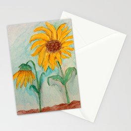 Watercolor Sunflowers Stationery Cards