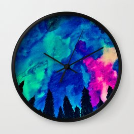 Forest Galaxy Wall Clock
