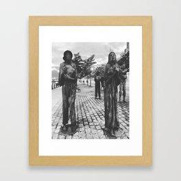 Famine Memorial Dublin Framed Art Print