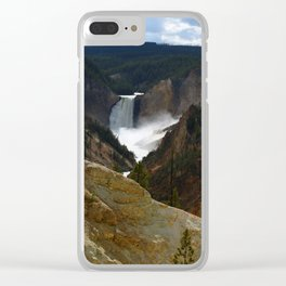 Thundering Waters Of The Yellowstone River Clear iPhone Case