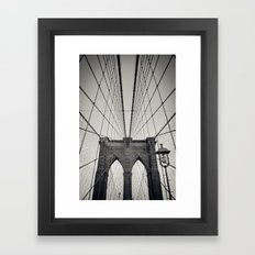 Brooklyn Bridge B/W | New York City Framed Art Print
