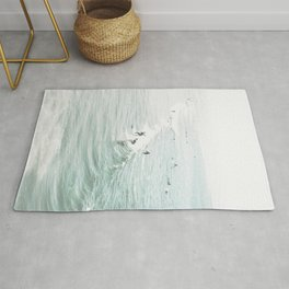 Surfer Waves Costal Ocean Rug