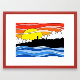 Penzance Skyline Framed Art Print