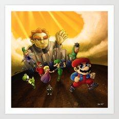 Super Mario Bros. The Movie: The Game Art Print
