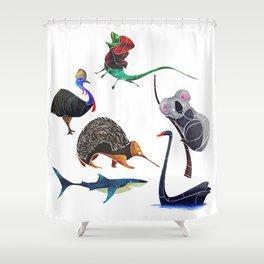 Australian animals Shower Curtain