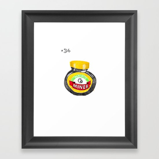 disparaging terms for the homosexual man #34: marmite miner Framed Art Print