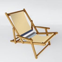 Minimal Abstract Grey Stripes On Beige - Drow Sling Chair
