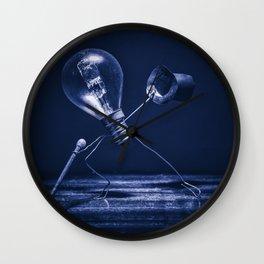 Tip-tap dancer in cian Wall Clock