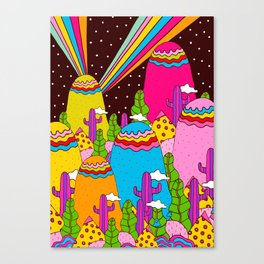Night Sky Rainbows Canvas Print
