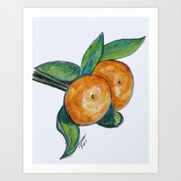 Two Oranges Art Print