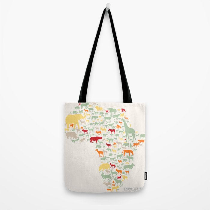 Endangered Safari - without animal names Tote Bag