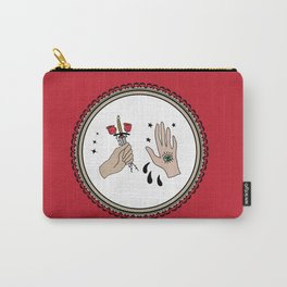 Evil Eye & Sword Hands in Frame Carry-All Pouch