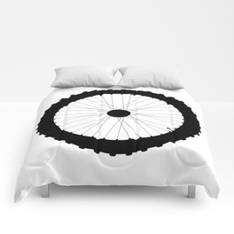 Bicycle Wheel Silhouette Comforters