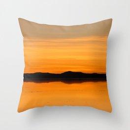 Sunset Salar de Uyuni 5 - Bolivia - Landscape and Rural Art Photography Throw Pillow